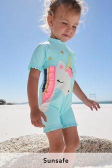 Aqua 3D Unicorn Sunsafe Swim Suit (3mths-7yrs)
