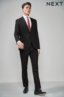 Black Two Button Suit: Jacket