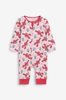 Pink Lobster Sleepsuit