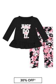 Nike 아기 소녀 블랙 세트