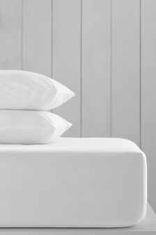 White White Cotton Rich Extra Deep Fitted Sheet