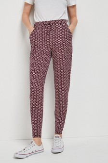 Berry Geo Print Jersey Joggers