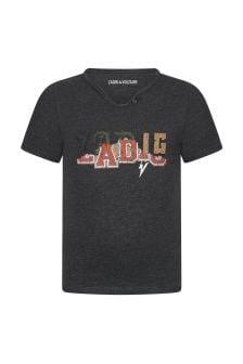 자디그 & 볼테르 보이즈 그레이 코튼 티셔츠