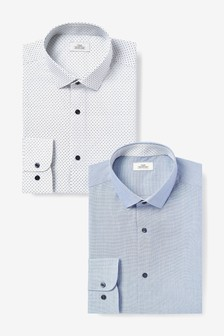 Navy/White Shirts Two Pack