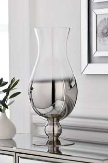 Silver Silver Ombre Footed Flute Glass Vase