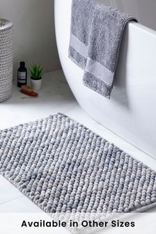 Grey Marl Giant Bobble Bath Mat Bath Mat