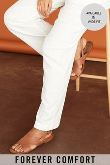 Tan Forever Comfort® Cross Front Slingback Sandals