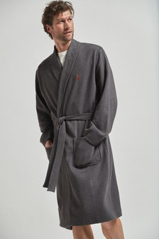 Charcoal Lightweight Waffle Dressing Gown