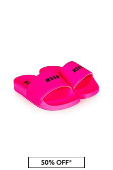MSGM Girls Pink Sliders