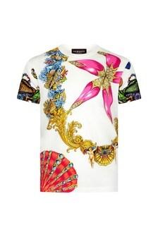 Versace Kids White Cotton T-Shirt