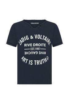 자디그 & 볼테르 보이즈 네이비 코튼 티셔츠