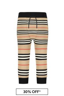 Burberry Kids Baby Boys Beige Cotton Trousers