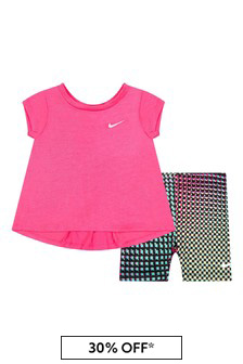 Nike 베이비 걸스 핑크 세트