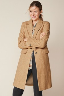 Camel Revere Collar Coat