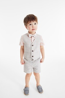 Multi Waistcoat, Shirt And Shorts Set (3mths-9yrs)