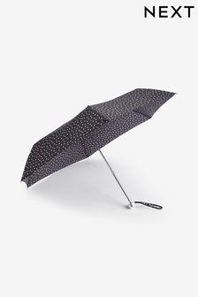Black/White Monochrome Polka Dot Umbrella