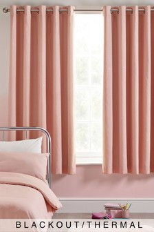 Pink Glimmer Eyelet Blackout Curtains