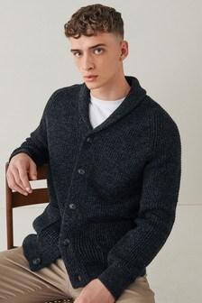 Charcoal Grey Shawl Cardigan