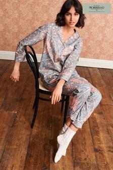 Navy Floral Morris & Co. at Next Woven Button Through Pyjamas