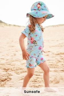 Floral Aqua Sunsafe Swim Suit (3mths-7yrs)