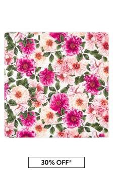 Dolce & Gabbana Kids Baby Girls Pink Cotton Blanket
