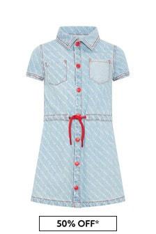Marc Jacobs 걸즈 블루 코튼 드레스