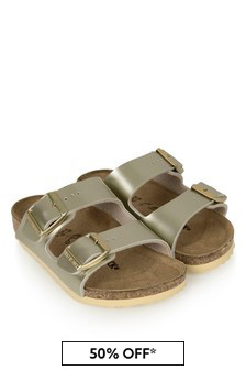 Birkenstock Gold Arizona Sandals