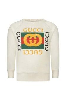 GUCCI Kids Logo Print Sweater