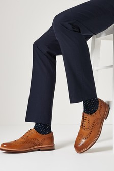Tan Modern Heritage Goodyear Leather Welted Brogues