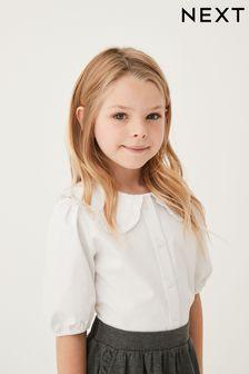 White Pretty Collar Blouse (3-14yrs)