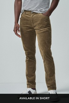 Sand Jean Style Cord Trousers