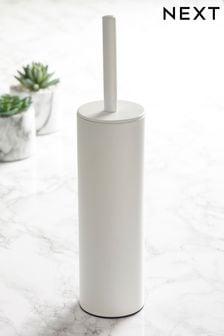 White Toilet Brush