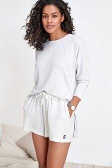 Grey Soft Viscose Shorts