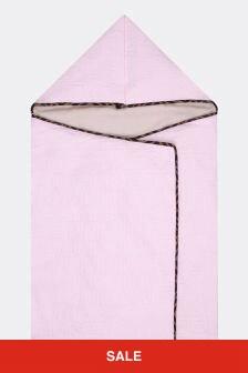 Fendi Kids Baby Boys Pink Cotton Logo Nest