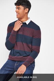 Navy/Burgundy Stripe Rugby Shirt
