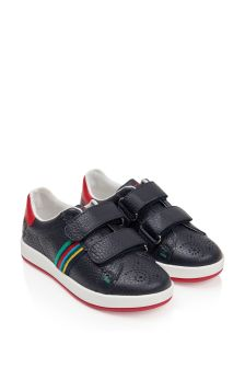 Paul Smith Junior Boys Navy Leather Trainers