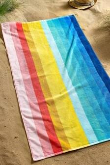 Multi Rainbow Beach Towel