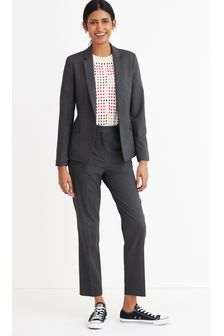 Charcoal Single Breasted Tailored Jacket
