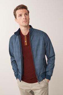 Blue Check Harrington Jacket
