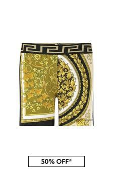 Versace Gold Cotton Shorts