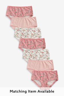 Pink 7 Pack Floral Briefs (2-16yrs)