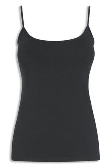 Black Thin Strap Vest