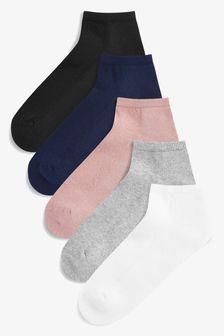Multi Cushion Sole Trainer Socks Five Pack