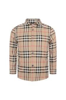 Burberry Kids Boys Beige Vintage Check Frederick Shirt