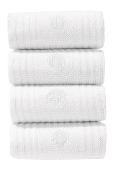 White Sports Socks Four Pack