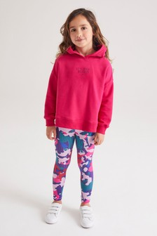 Pink Camouflage Hoodie And Leggings Sports Set (3-16yrs)