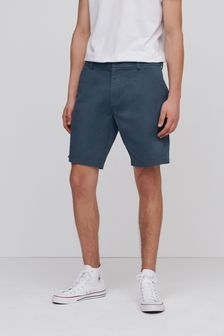 Blue Stretch Chino Shorts