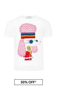 Marc Jacobs 걸스 화이트 코튼 티셔츠