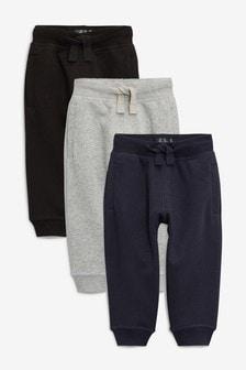 Grey/Navy/Black Essential Joggers Three Pack (3mths-7yrs)