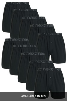 Black Loose Fit Pure Cotton Ten Pack